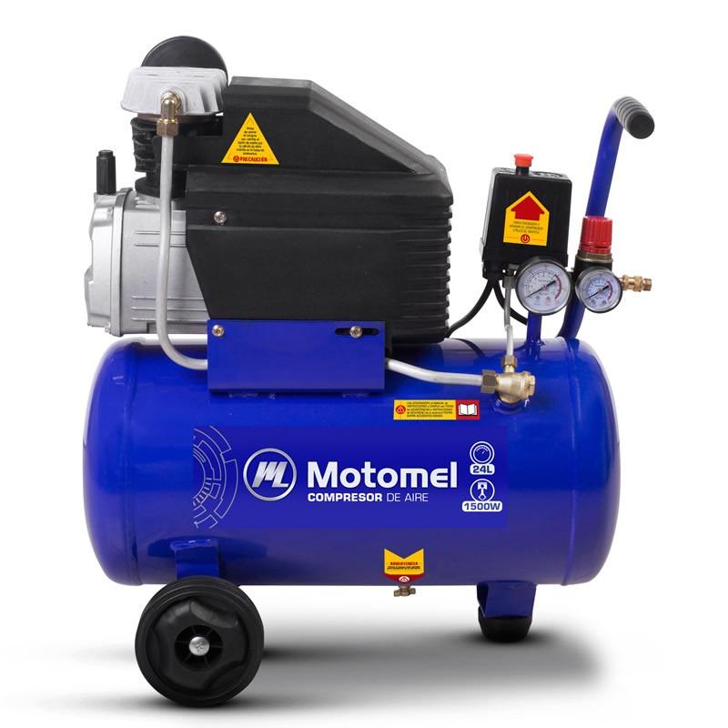 Compresor De Aire Motomel 24 Lts 8bar 1500w Con Kit Mca24k
